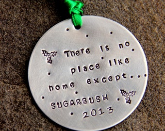 Ski Ornament- Favorite Mountain Skiing,  Life Quote, Sugarbush Christmas Gift, Winter Snowflake, Ski Vermont, Jackson   Snowflake Ornament,