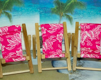 Small Pink Red Tropical Print Cell Phone Chair Mamakohawaii