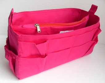 Extra Tall & Extra large size Purse organizer - Bag organizer insert in Fuchsia