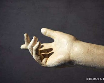 Frozen in stone, Pointing Finger, hand, statue, abstract, surreal, photograph, fine art