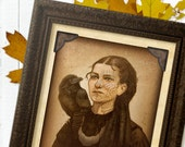 Mary Margaret and the Raven, Two-Sided Print, 8x10