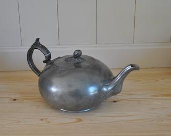 Antique pewter teapot - James Dixon & Co - Adams 57 Haymakers 51902 - Art Nouveau - Decorative