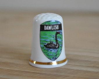 Vintage china thimble - Dawlish - Geese - Birchcroft - England