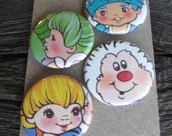Rainbow Brite magnets.  Set of 4