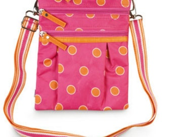 Sorbet Spots Cross body bag from Room It Up, monogrammed, personalized, custom