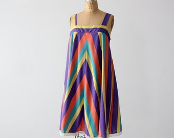 1970s sundress, striped tent dress