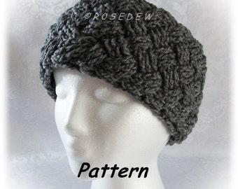 Instant Download to PDF Crochet PATTERN: Unisex Lattice Ear Warmer