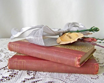 Antique Love Tales Books 1891 First Edition Set of 2 American Love Stories German Love Tales Marriage Blunder Love At First Sight Dumb Love