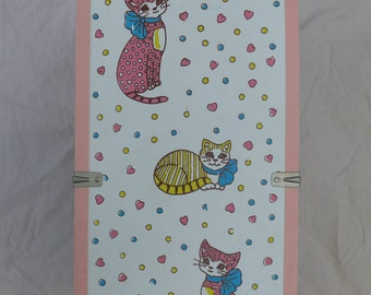 Vintage Kitty Cat Doll Clothes Closet Storage Trunk
