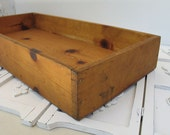 "Vintage Wood Box / Tray - Large 25"" x 12"" - Rustic, Primitive Box"