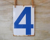 Industrial Metal Sign Number 4 Number 6 - WhatsNewOnTheMantel