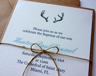 Woodland Antler Invitations