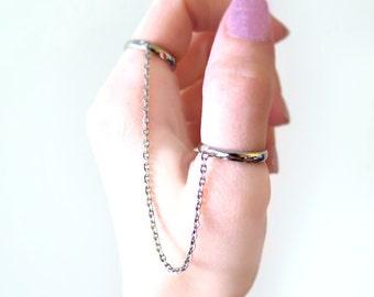 Slave Rings in Dark Silver