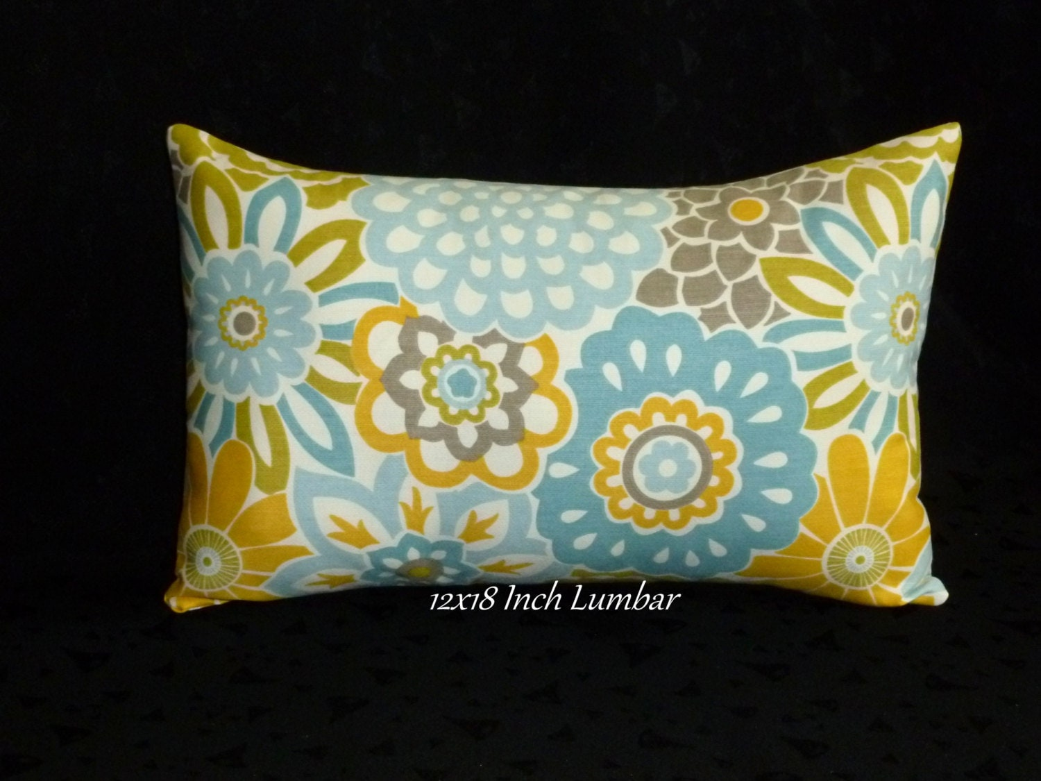 Decorative Throw Pillow Lumbar Pillow. Accent Pillow 18x12