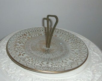 Mid Century Stangle Serving Piece