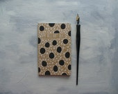 moleskine notebook - my brilliant ideas, polka dots, black and white, pocket notebook, blank notebook, journal