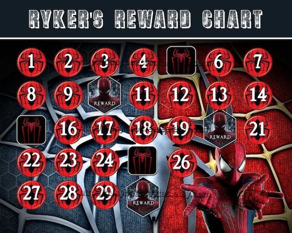 HD wallpapers printable reward chart spiderman