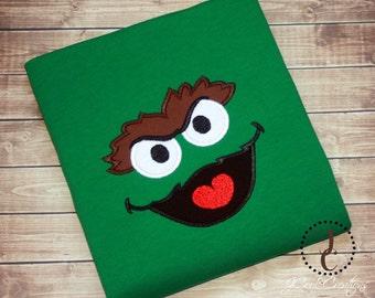 Oscar The Grouch Shirt - Oscar Dress, Oscar The Grouch Birthday, Sesame Street Birthday, Sesame Street Shirt, Sesame Street Dress, Oscar