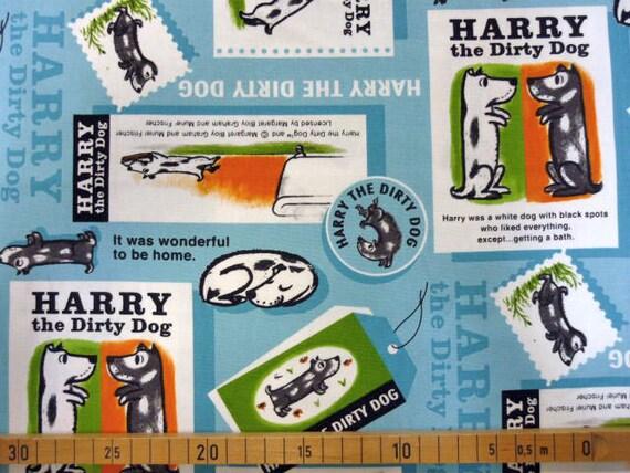 Harry the dirty dog printed fabric half yard