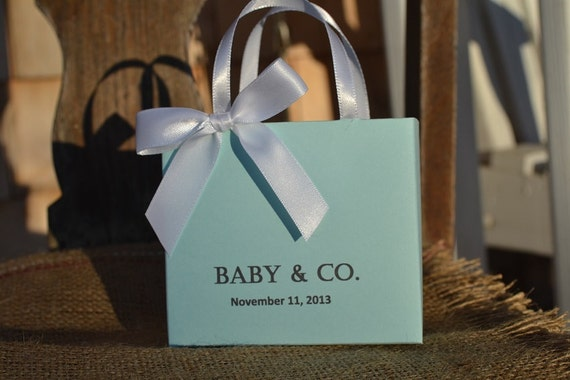 Tiffany Blue Party Favor Bags For Your Baby Shower Or Wedding