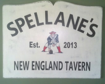Personalized Tavern Sign with Established Date