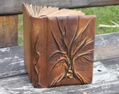 Extra thick leather book tree of life