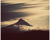 mt hood, mountain photography, clouds, fine art print