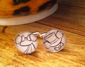 WEDDING MICKEY and MINNIE Mouse Bride and Groom 14 mm Silver Plated