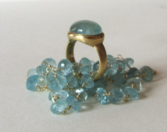 Ring, Aquamarin, 18K Gold
