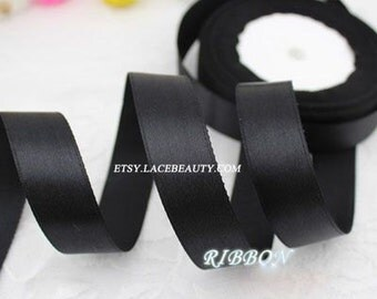 Black Ribbon Terylen Lace Trim 0.78 Inch Wide 22 meters