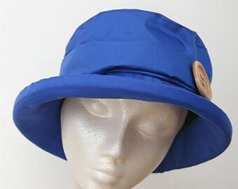 Blue  PU Rain Hat