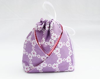Origami Gift Bag - Happy Tones Jemma in Orchid for Michael Miller