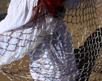 "Oceanside Crocheted Fishnet Shawl - Inspired by ""Fisherman's Boy"""