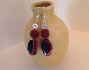Wonderstone & Sterling Silver Earrings