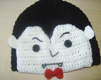 Vampire halloween fall winter beanie hat for ages 5-10 years