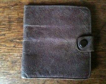 Vintage English Brown Wallet circa 1960's / English Shop