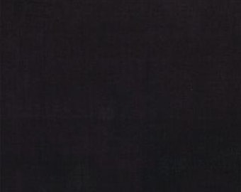 "LAST PIECE 1 Yard 12"" of Little Black Dress 2 Black Grunge by BasicGrey  for Moda"