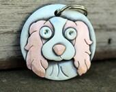 Dog Tag - Dog ID Tag - Pet Tag - Custom dog tag- Cavalier dog tag or key chain