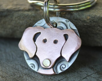 Small Dog Tag - Dog ID Tag - Pet Tag - Dachshund Dog Id tag
