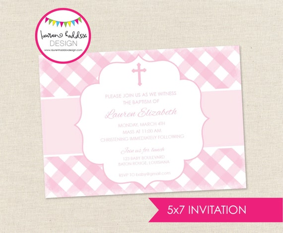 Diy Baptism Invitations is an amazing ideas you had to choose for invitation design