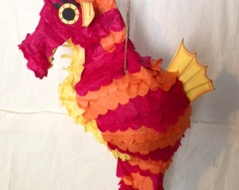 Seahorse Pinata, Birthday Pinata, Wedding Pinata, Under the Sea Pinata