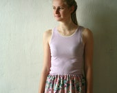 Tank top with lace trim available in various pastel colors - mint,peach,pink,lilac...