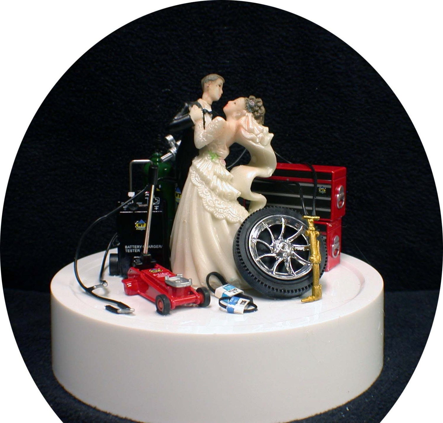 Items similar to Car AUTO MECHANIC Wedding Cake Topper