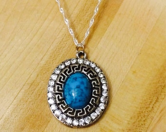 Oval turquoise medallion