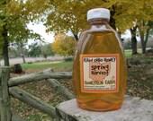 Pure Raw Spring Honey - 32 ounce jar -  nectar from Black Locust, Bush Honeysuckle, Russian Olive