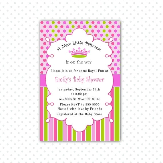 Baby Shower Invitations Princess Theme with adorable invitations ideas