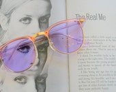 Vintage PURPLE CLUBMASTER Sunglasses.retro. colorful shades. urban. hipster. gold. shades. indie. chic. pink. sunglasses. boho. deadstock.