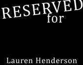 Jimi Hendrix--Reserved for Lauren Henderson