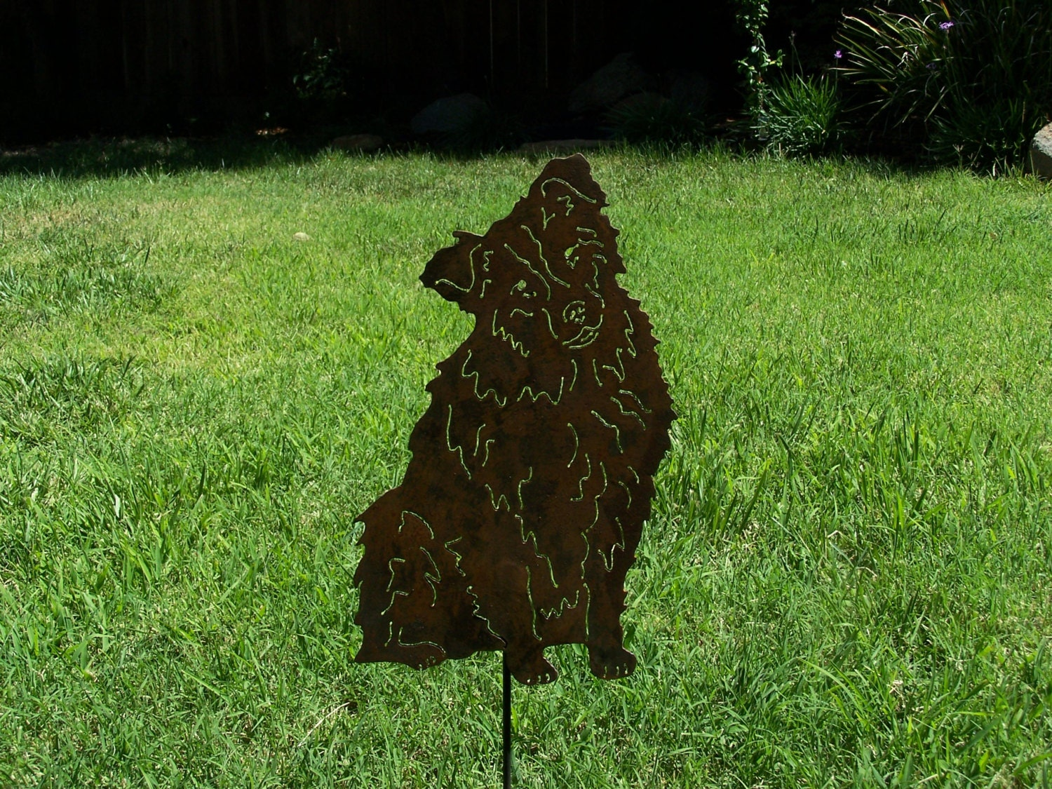 Australian Shepherd Steel Garden Art Sculpture Metal