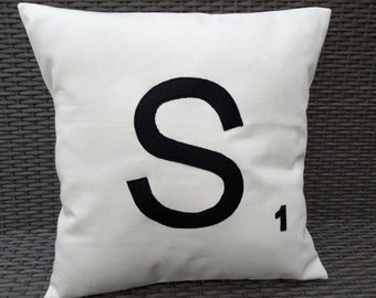 """16"""" Personalised Scrabble Tile Cushion Cover - Choose Your Letter!"""